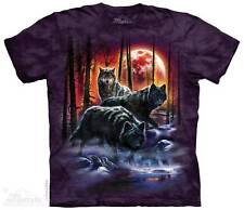 FIRE & ICE WOLVES ADULT T-SHIRT THE MOUNTAIN ----IN STOCK!!