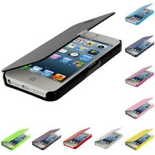 For Apple iPhone 5 5S Wallet Flip Folio Pouch Slim Hard Case Cover