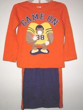 """Infant & Toddler LS """"Game On"""" Pants Sets-Sizes 12 MO 4T. & Navy NWT"""