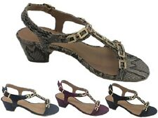 Ladies Sandals No Shoes Links Black Navy Cherry or Beige Snake Shoe Size 6-11