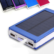 NEW 30000mAh Dual USB Portable Solar Battery Charger Power Bank For Cell Phone