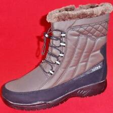 NEW Womens TOTES EVE Brown/Black Faux Fur Winter/Rain Insulated Waterproof Boots