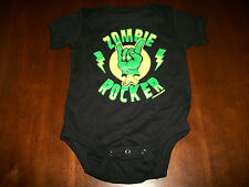 NWT girls boys SOUR PUSS Zombie Rocker Black Shirt Romper Punk Rock