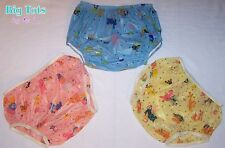 Adult Baby Vintage Animals PVC plastic diaper cover  pants  *Big Tots by MsL*