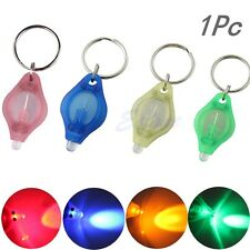 Mini Micro Super Bright Light LED Camping Flashlight KeyRing Keychain Torch Lamp