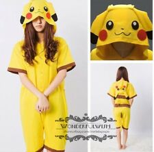 Unisex Cosplay Costume Pikachu Pajamas Kigurumi Animal Onesie Sleepwear Dress