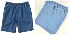 NEW White Stag Women's Pull On Denim Shorts Elastic Waist  Light Weight S M