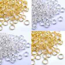 New Gold Silver Plated Metal Jump Double Split Jump Ring 4,5,6,,8,10,12,14MM Hot