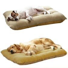Fashion Warm Soft Fleece Washable Square Pet Dog Cat Bed Kennel Pad Mat Cushion