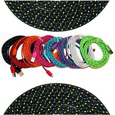 6ft 2m Micro USB Charger Braided Sync Data Cable for Samsung Galaxy S3 S4 HTC LG