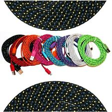 Long Braided Micro USB Data Sync Cable Charger Cord For Android Smart Phones 6ft