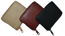 New Mens Bifold Zipper Around Leather Wallet Secure Multi Pockets Billfold