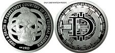 1 OZ SILVER COIN PROOF *FEDERAL RESERVE-DECENTRALIZED BITCOIN* DOUBLE OBVERSE