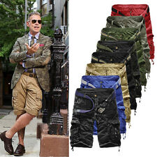 Summer Mens Army Combat Camo Work Cargo Shorts Pants Trousers