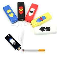 Windproof USB Electronic Rechargeable Flameless Tobacco Cigarette Cigar Lighter