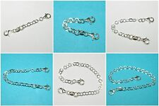 EXTENDERS WHOLESALE LOTS 925 Sterling Silver 4mm Flat Chain Two Lobster Clasps