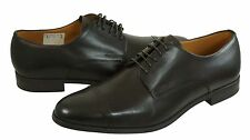Bally Mens Lesco Brown Cocoa Calf Lace-Up Cap-Toe Business Casual Dress Shoes