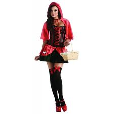 Sexy Little Red Riding Hood Costume Adult Fairytale Corset Halloween Fancy Dress