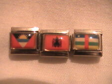 World Country Flags 9mm Spring-Loaded Italian Charms (12 countries from O-R) NEW