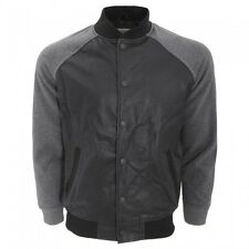 Brave Soul Mens New Jersey Faux Leather Varsity/College/Bomber Fashion Jacket