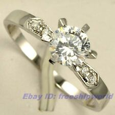 Size 5,5.5,6,6.5,7,7.5,8,8.5,9 Ring 0.78Ct GEMSTONE 18K WHITE GOLD GP REAL POSH