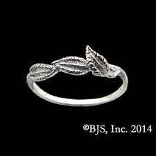 Official Hobbit/LORD OF THE RINGS Galadriel's Lorien Leaf NENYA TRACER BAND Ring