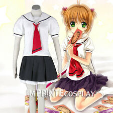 Cardcaptor Sakura Tomoeda School Girls Summer Uniform Cosplay Costume FREE P&P