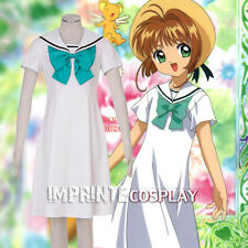 Cardcaptor Sakura Sakura Kinomoto White Dress Cosplay Costume Full Set FREE P&P
