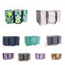 Thirty One Gifts Large Utility Tote Shopping Basket Beach Bag Laundry Box New 31