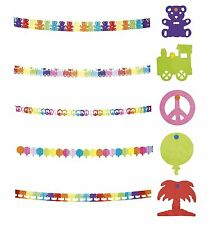 4m Paper GARLANDS - Themed (Bunting/Banner/Party/Birthday/Kids/Decoration/Hang)