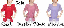 Red ~ Mauve ~ Dusty Pink ~ Twin Set Blouse ~ Plus Size 14 16 18 20 ~ Stock Sale