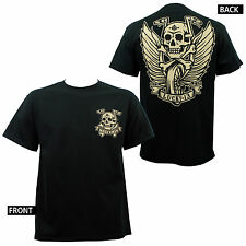 Authentic LUCKY 13 Flying High Winged Wheel And Biker Skull T-Shirt S-4XL NEW