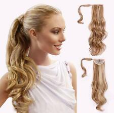 Hot Sell Lady Synthetic Hair Extension Long Hair Piece Curly Wavy One Piece Clip