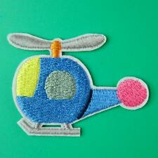 Helicopter Airplane Iron on Sew Patch Applique Badge Embroidered Applique Biker