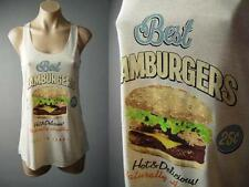 Hamburger Burger Cheeseburger Vtg-y Graphic Tee Novelty Top 126 mv Shirt S M