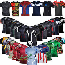 Marvel DC Comic Superhero Action Figures Cyclisme Compression T-shirt Jersey Top