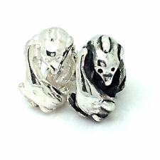 New Sterling Silver 925 Dolphins Slide On Charm Bead