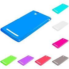 For Sony Xperia T2 Ultra TPU Rubber Transparent Skin Case Cover Clear Accessory