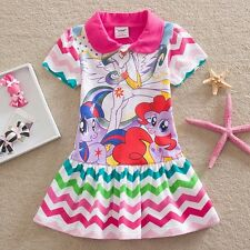 NWT My Little Pony Holiday Girls Striped Dress Children Clothes Size 3 4 5 6 7 8