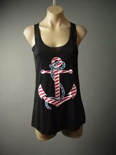American Sailor Red White Blue Star Stripe Anchor Nautical Top 141 mv Shirt S M