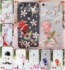 Cute Shine Bling Transparent Clear Crystal Diamond Hard Back Case Cover Skin #16