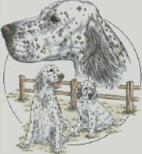 Cross Stitch Chart - Kit The English Setter Dog