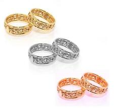 Framed Byzantine Band Ring Yellow White Rose Gold 14K Size Color Selectable