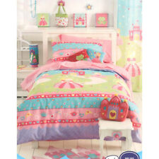 Princess Single Double Bed Quilt Cover Curtains Coverlet Bedroom Decor Range