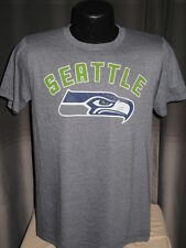 NFL Seattle Seahawks Russell Wilson #3  Jersey T Shirt Mens Small Vintage Blue
