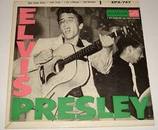 ELVIS PRESLEY FIRST EPA-747 ORIGINAL BLACK RCA LABEL DOG ON SIDE 1965