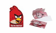 ANGRY BIRDS COLOURS and ANGRY BIRDS PINK PARTY INVITATIONS (Party/Kids/Birthday)