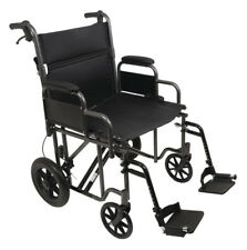 "PROBACIS 22"" Heavy Duty Transport Chair 9500, 2 Great Colors, 400 lb Capacity!"