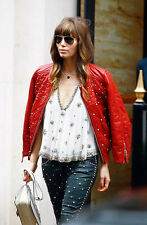 Isabel Marant White Beaded Crystal Blouse Top