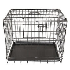 Folding Suitcase 2 Doors Pet Crate Dog Cat Puppy Cage Small Medium Large X-Large